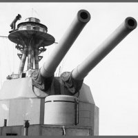 "Британский монитор ""HMS Terror"" (I03).вид на башню главного калибра. :: Александр"