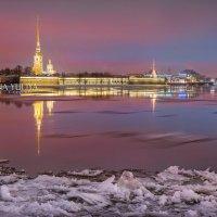 Петропавловская крепость и льдины :: Юлия Батурина