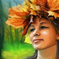 девушка-осень :: николай дубовцев