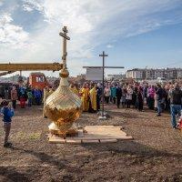 Освящение и установка купола малого храма Пророка Ильи :: Андрей Lyz