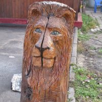 Деревянный лев. :: Зинаида