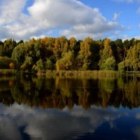 В старом парке царствовала осень... :: Ольга Русанова (olg-rusanowa2010)