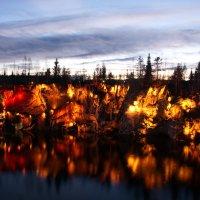 мраморный каньон вечером с подсветкой :: Валентина Папилова