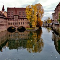 Осенний  госпиталь Святого  духа  в  Нюрнберге :: backareva.irina Бакарева