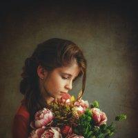 Девочка с цветами :: Анна Фрошгайзер