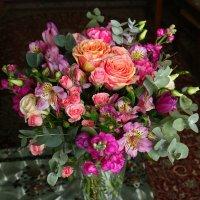 Букет от дочки-флористки на мой день рождения :: Светлана