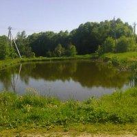 Пруд в деревне Воронинская :: Виктор Мухин