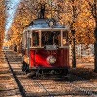 old tram in old Prague :: Dmitry Ozersky