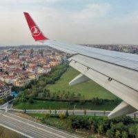 Под крылом самолета...Стамбул :: Наталья Ильина