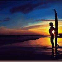 Утренний сёрфинг.  (работа выполненная на графическом планшете Huion.) № 66 :: Anatol L