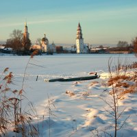 Старая башня на закате... :: Нэля Лысенко
