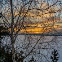 закат над озером... :: Pavel Kravchenko