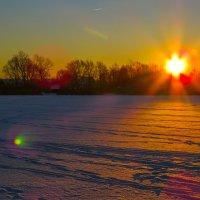 Зима и солнечные блики :: Сергей Цветков