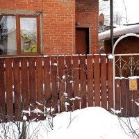 Такой тихий дворик, а на калитке табличка. :: Татьяна Помогалова