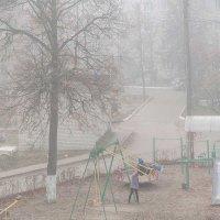 Туман в городе :: Владимир Безгрешнов