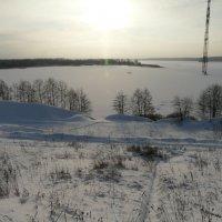 Волга под снегом :: рыба на лошади