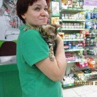 Я с котёнком бенгала. :: Зинаида
