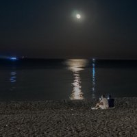 -луный вечер :: Михаил