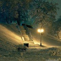 Лестница, фонарь, скамейка... :: Сергей
