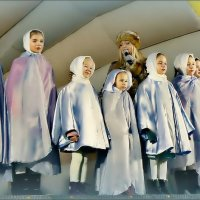 Панорама с рождественскими ангелами... :: Кай-8 (Ярослав) Забелин