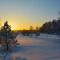 Приятный зимний вечер. :: Валерий Медведев