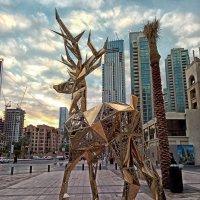 Золотые олени на улицах города Дубай. :: Alex