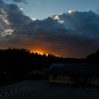 Заход солнца :: Екатерина Тихомирова