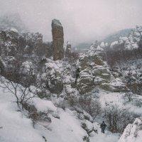 Крымские горы зимой. :: Евсей Крымский.