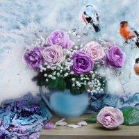 Опять зима и листья в перламутре… :: Валентина Колова