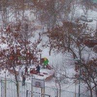 Падал новогодний снег... :: Людмила Монахова