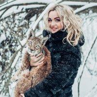 Девушка и Рысь. :: Макс Беккер