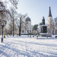 Снег на пару часов в Одессе 4 :: Сергей Волков