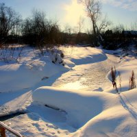 Блестя на солнце,снег лежит... :: Нэля Лысенко