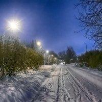 Зимняя снежная ночь :: Игорь Герман