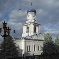 Святогорская лавра, Покровский храм с колокольней :: Татьяна Найдёнова