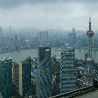 """Вид с обзорной площадки высотки """"Цзинь Мао"""" на Шанхай (Китай) :: Юрий Поляков"""