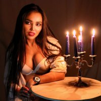 При свечах. :: Александр Бабаев