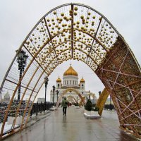 Храм Христа Спасителя в Новогодней арке :: Елена (ЛенаРа)