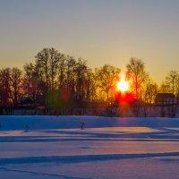 Садилось солнце за деревней :: Сергей Цветков