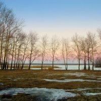 Закат над озером склонился... :: Нэля Лысенко