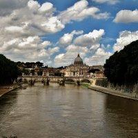 Вид  с  моста   Святого Ангела (итал. Ponte Sant'Angelo) :: backareva.irina Бакарева