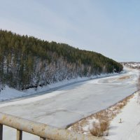 Исеть, и снова вид с моста. :: Михаил Полыгалов