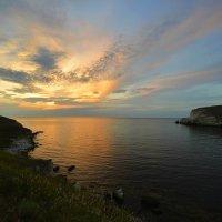 Краски вечера... Джангульская бухта... Мыс Тарханкут... The colors of the evening... Dzhangul Bay... :: Сергей Леонтьев