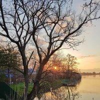Вдалеке над поверхностью вод Лучезарное солнце встаёт. :: Валерий Ткаченко