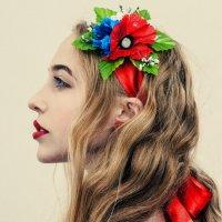 Folk portrait of a Ukrainian girl in the style of A. Krivitsky. :: krivitskiy Кривицкий