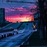 Закат над Москвой .... :: Сергей Козырев
