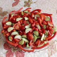 Весёлый салат. Едим дома :: Надежд@ Шавенкова