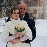 Жених и невеста зимой в Царицыно :: Нина Кулагина