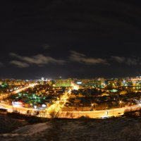 Ночной город со Сторожевой башни(Красноярск) :: Владимир