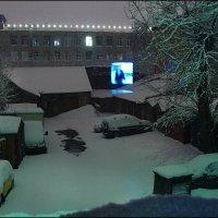Ночной снегопад :: Цветков Виктор Васильевич